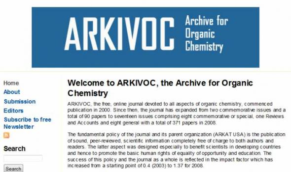 ARKIVOC- Online Journal of Organic Chemistry | Digital Library Directory