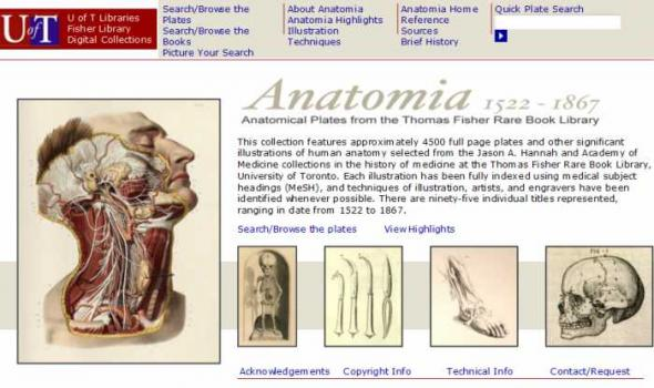 Anatomia Collection Digital Library Directory