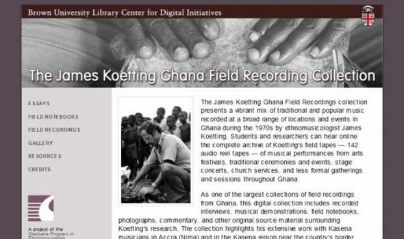 The James Koetting Ghana Field Recording Collection